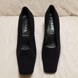 Prada Square Toe Heels - 100% Authentic